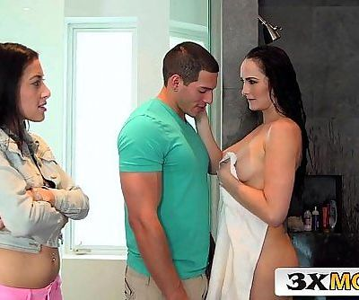 Bianca Breeze Threesome with her Stepdaughter Kimberly Gates and Her Boyfriend - 6 min HD