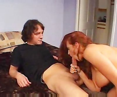 Horny MILF Fucks A Cock And The Bed