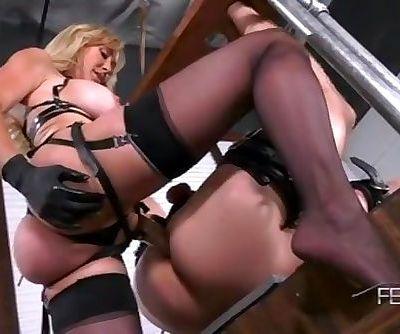 Black Gloves Milf Strapon - Mistress Brandi Love