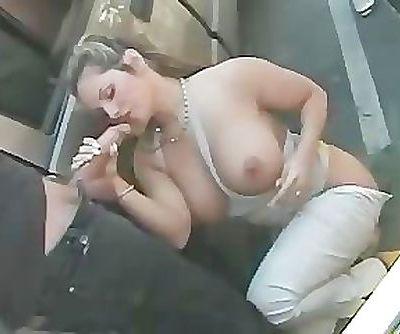 Parking lot blowjob