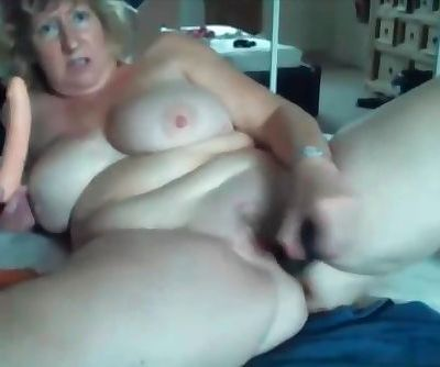 British Busty blonde mom Carmen masturbates & Talks Dirty