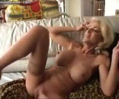 MILF fucks, squirts and swallows