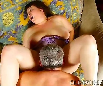 Super cute chubby old spunker is such a hot fuck and loves the taste of cum