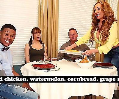 BANGBROSMILF Richelle Ryan Adopts Lil Ds Big Black Cock, Invites Him Over For Dinner 3 min HD