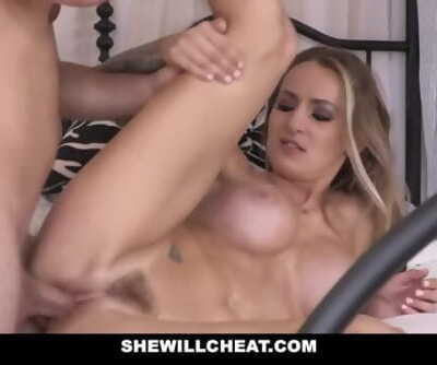 SheWillCheat - Cheating Horny Wife Gets Jizzed In