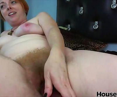 Mature redhead mom with hairy squirting pussy