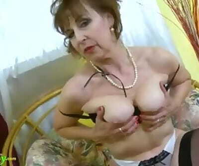 OldNannY Hot Horny Grandma Seductive Striptease