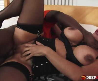 MDDS Big Tit MILF Aubrey Black Interracial Creampie Fuck