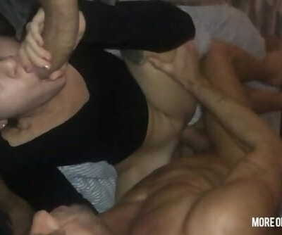 two horny dads want to cum in Tinas mouth