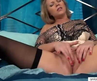 Sensual MILF Pussy Rubbing