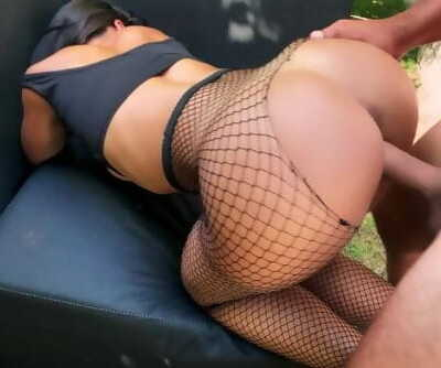 Teen Fucks the Gardener while her Parents are away