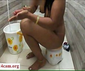 Desi mona bath in..