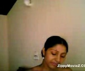 Cute teen Malini showing her..