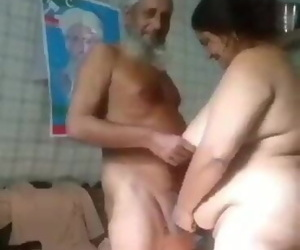 Pakistani Grandpa with his wife