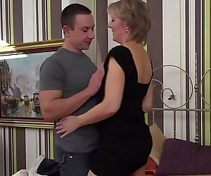 Horny housewife fucking and..
