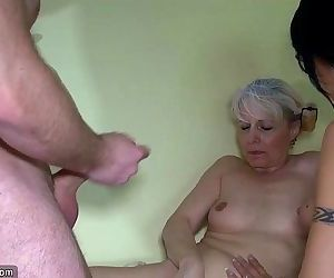 Old granny and Nice woman using..