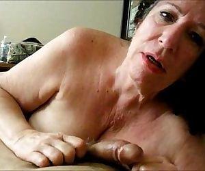 Brunette Granny Sucks Dick..