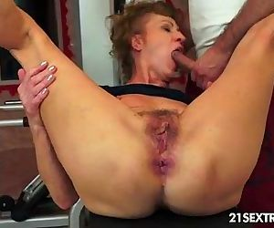 old granny getting fucked hard in..