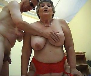 78 years old Grandma Libby 3some..