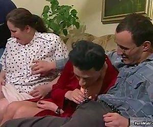 Granny orgy porn -..