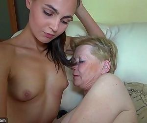 Nice young woman and old granny..