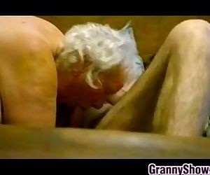 Thick Granny Riding On Her Lovers..