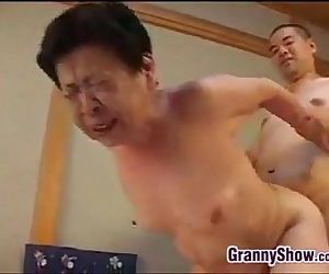 Japanese Grandma Giving A Great..