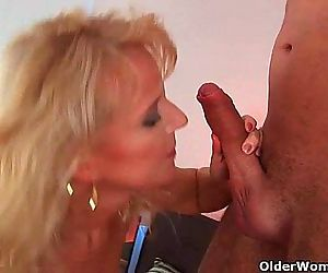 Lustful granny gets fucked hard -..