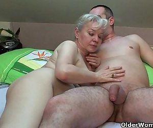 Grandma in heat needs to get off..
