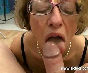 Mature slut fisted and fucked by..
