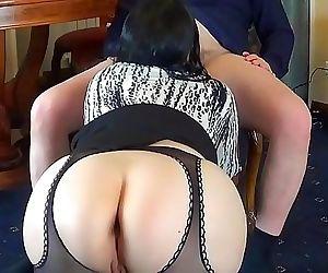 Hot Russian Milf Secretary Bring..