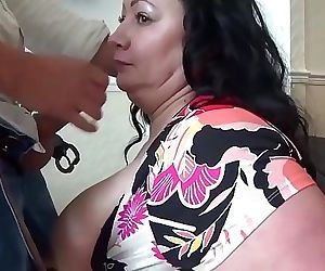 Mature BBW gets a visit from the..