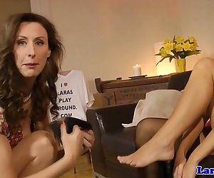 English mature loves lesbo play..