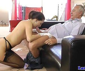 Stockinged english milf..