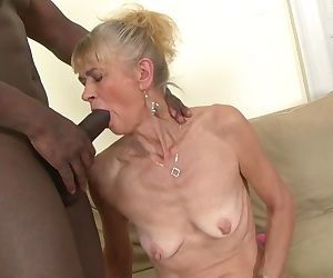 Granny fucked hard in her ass by..
