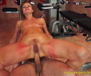 Granny anal sex after sports..