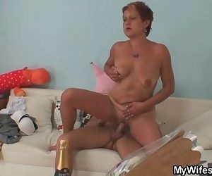 Cock hungry mother in law gets..