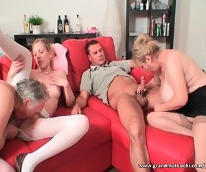 Hot amateur group sex