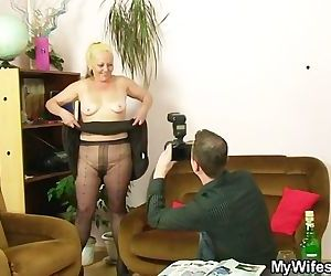 Naughty mom gets shagged after..