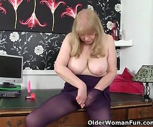 British granny with big tits is a..