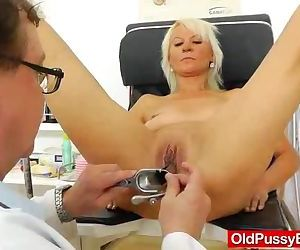 Blond dame gets a..