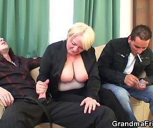 Boozed granny..