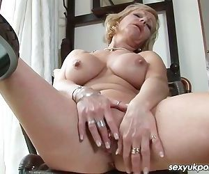 Mature British pornsatr Jane Bond..