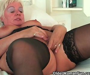 Chubby granny with big tits wears..