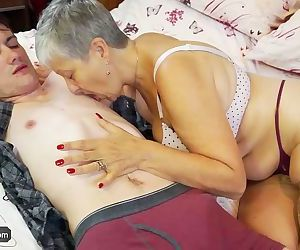 Old lady Savana fucked by student..