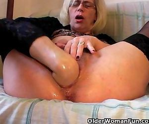 Slutty Grandma In Stockings Fists..