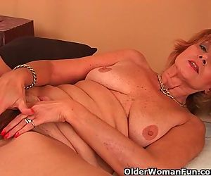 Plump Grandma Gets Fucked In Her..