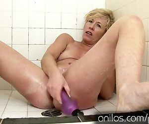 Her own cum dripping from her..