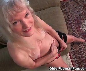 Grandma Claire's old pussy needs..