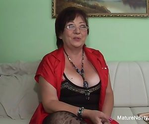 Insatiable mature keeps her..